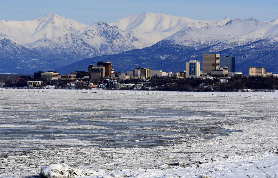 Anchorage is cold but not as cold as the rest of Alaska.